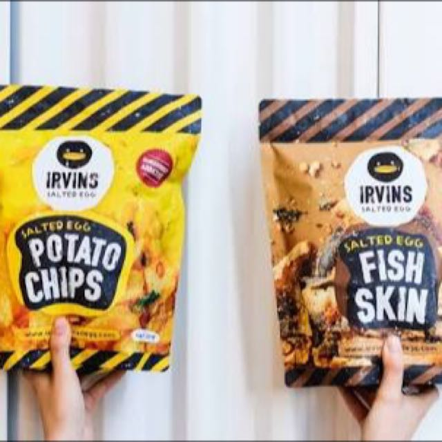 Singapore SALTED EGG Potato Chips IRVINS