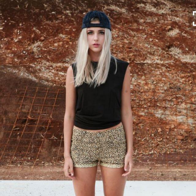 Isla Collective Leopard Mini Shorts