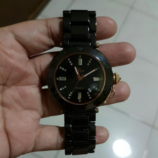 Jam Tangan Ceramic Black And White
