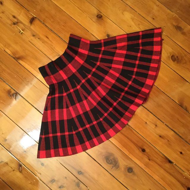 Kawaii Lolita Style Tartan Skirt Size 8 Small