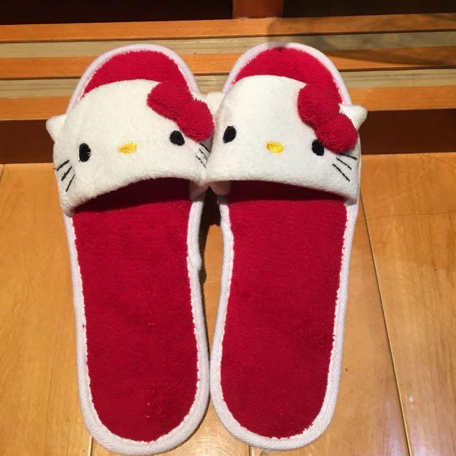 紅色 Kitty 室內拖鞋
