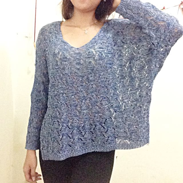 Knit Blue