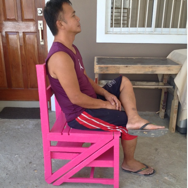 Ladder Chair (Pink)