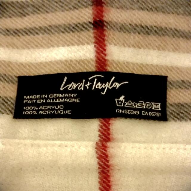 Lord & Taylor Fringe Plaid Infinity Scarf