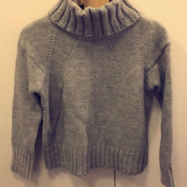 'Lost In Lunar' Grey Knitted Jumper