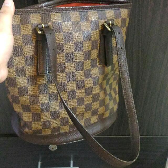 029cb82264e6 Sale!!!Louis Vuitton Damier Ebene Marais Petit Bucket Tote Bag Fast ...