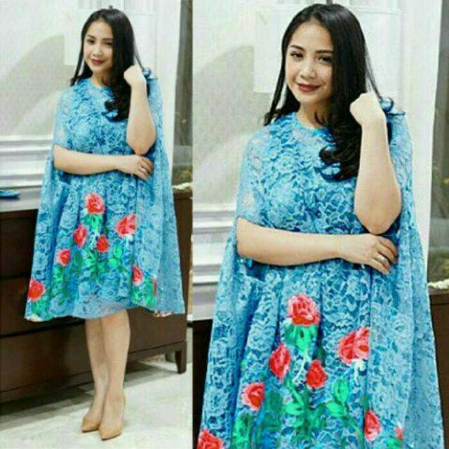 Nagita Dress2 Stelan Kebaya Kutubaru Gamis Kaftan Bigsize