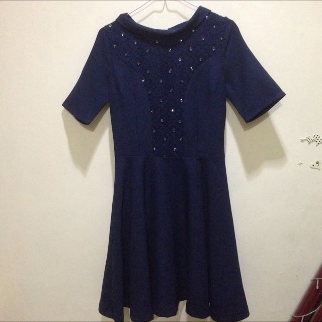 Navy Dress Maje