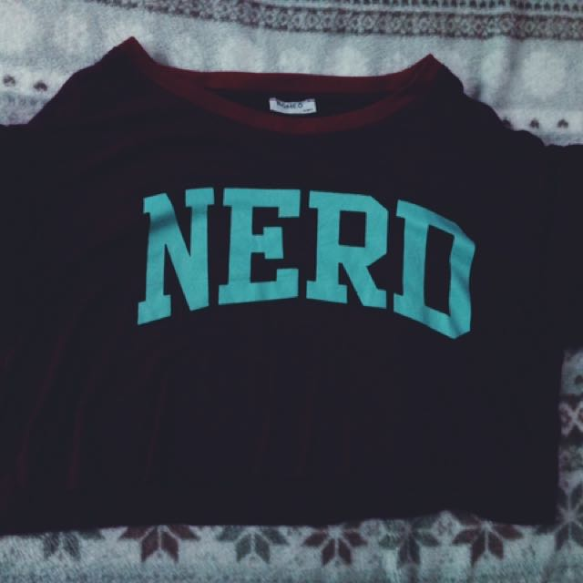 Nerd Maroon Crop Top