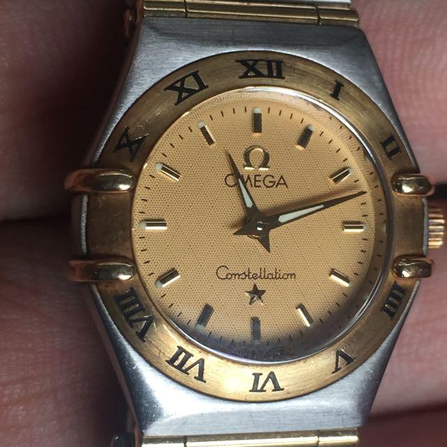 Omega Constellation 2 Tone Gold Ladies Mini Size Quartz