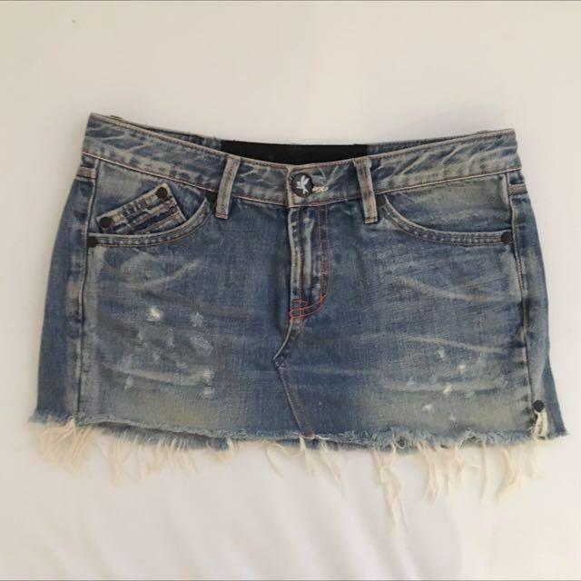 One Teaspoon Denim Mini Skirt