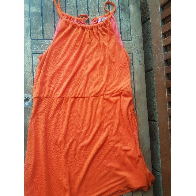Orange Halter Neck Dress