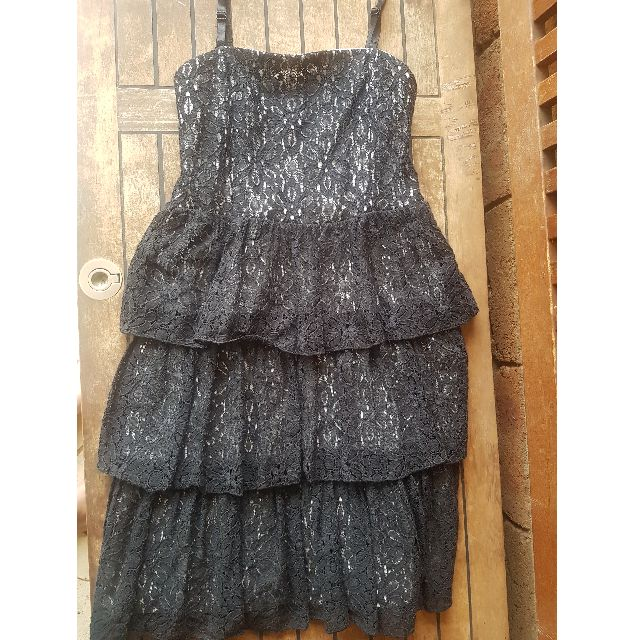 Origami Black and White Lace Dress
