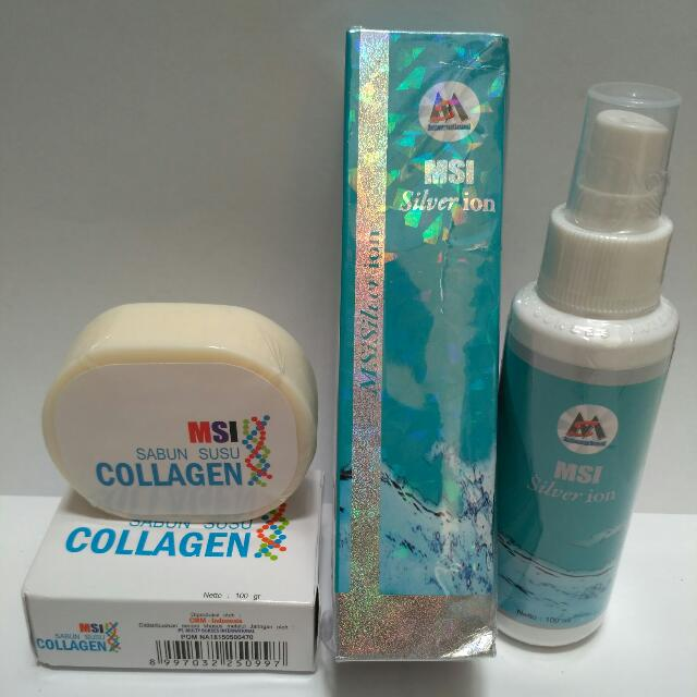 PAKET MSI SILVER ION + MSI COLLAGEN SOAP