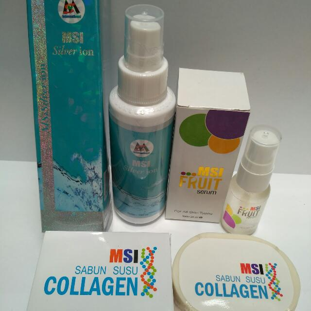 PAKET MSI SILVER ION + MSI COLLAGEN SOAP + MSI FRUIT SERUM