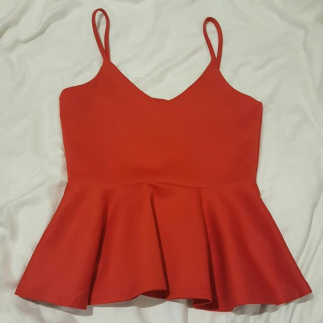 Pleated Red Supre Top