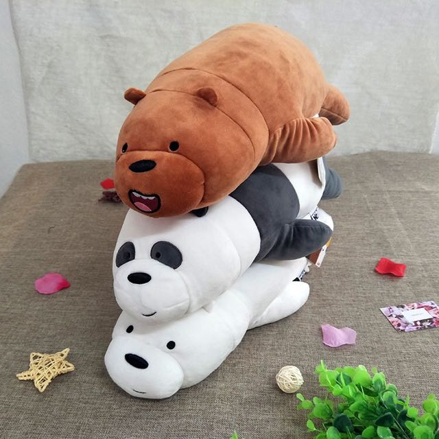 Po Authentic We Bare Bears Miniso Plushie Preorders On Carousell