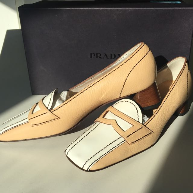 Prada leather heels