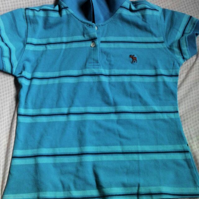 pre loved polo shirt blue