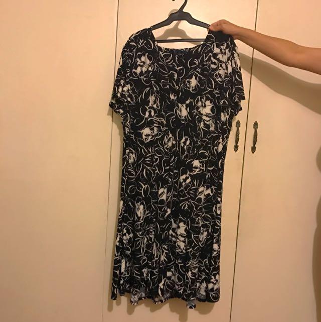Printed Dress - Plus Size