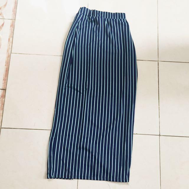 rok span stripes panjang
