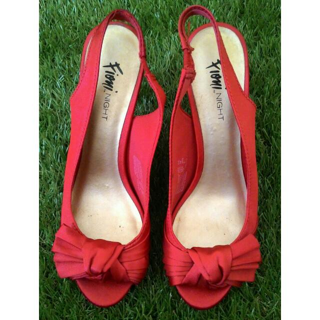 Sepatu Pesta Merah / High Heels / Stiletto