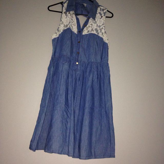 size 12 denim dress