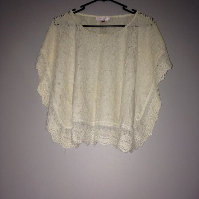 size S TEMT lace top