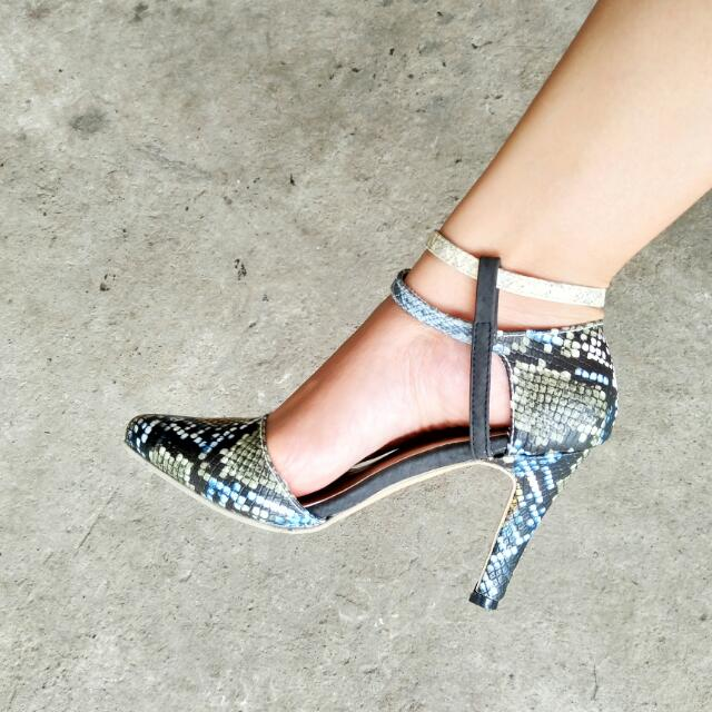 Snakeskin Inspired High Heels Shoes