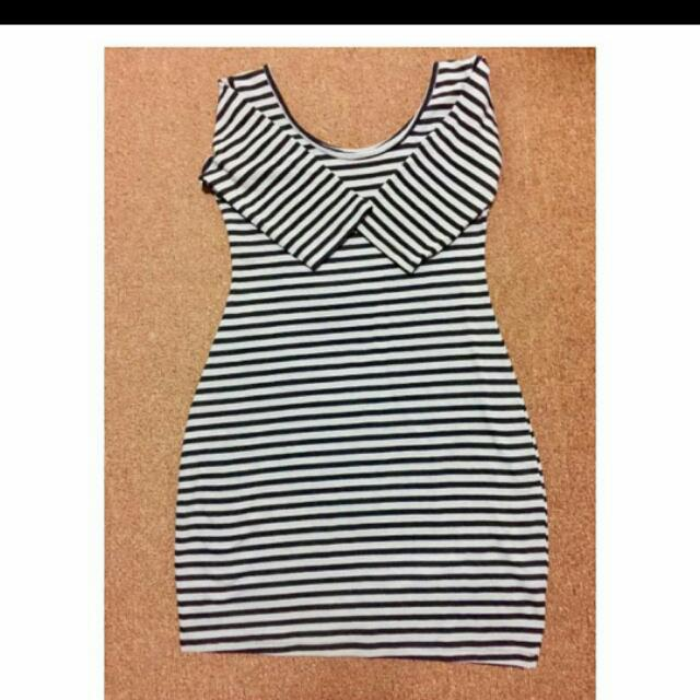 Stripe 3/4 Dress