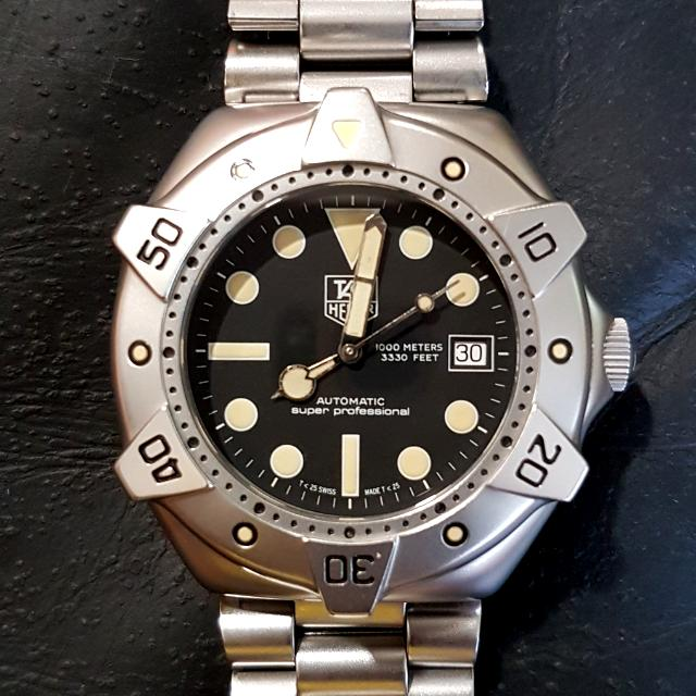 Tag heuer super professional 1000m diver automatic watch men 39 s fashion watches on carousell - Heuer dive watch ...