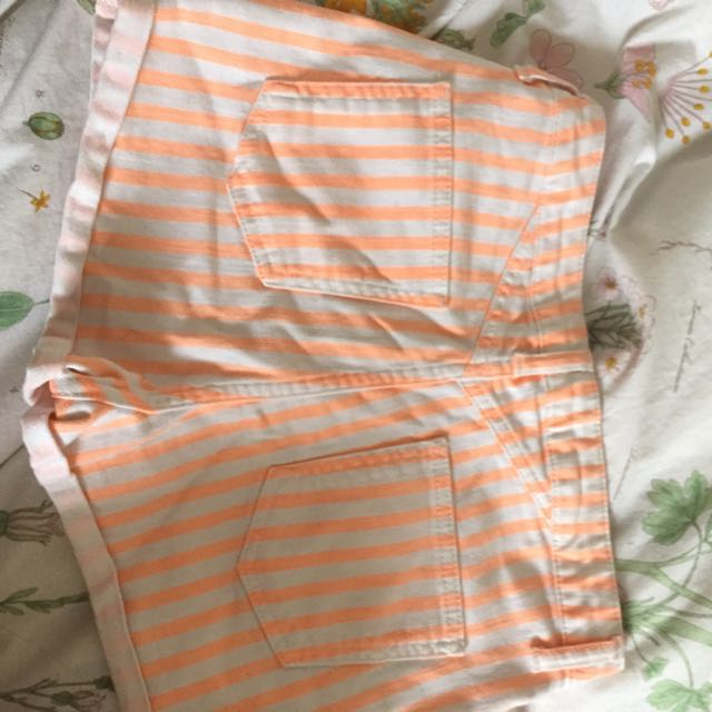 Topshop High Waisted Stripped Shorts