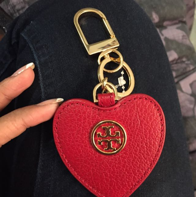 Tory burch Leather Keychain Bran New