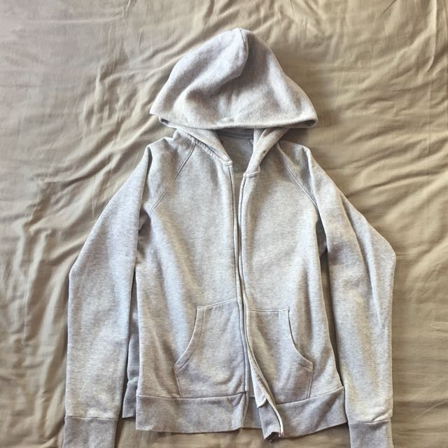 UNIQLO Women's Gray Cotton Hoodie