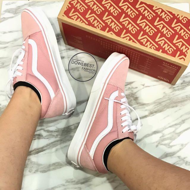 👟臺灣公司現貨👟Vans old skool Pink 臺灣限定初戀粉色 粉  基本款 懶人鞋 滑板鞋 3/29發售款
