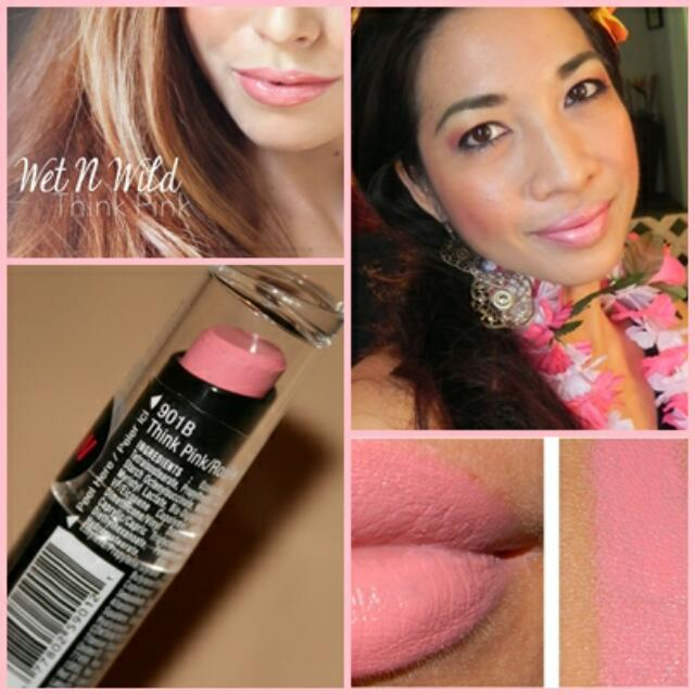 Wet and Wild Megalast Matte Lipstick, 901B Think Pink