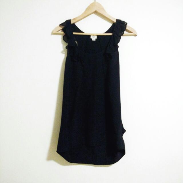 Wilfred Aritzia Black Silk Tank Top Size Xsmall