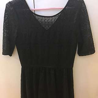 Black Lace/Crochet Dress