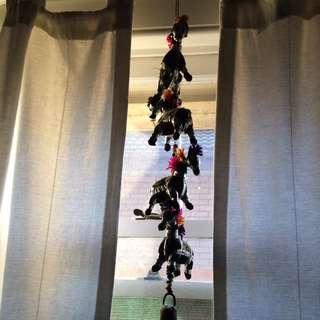 Bells On Coloured Dangling Dlephants
