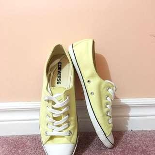 Converse Slim Light Yellow (US size 8) W/ Box