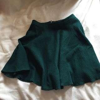 Glassons Green Circle Skirt