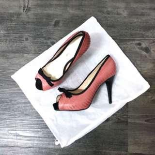 🚚 Le Saunda粉色魚口高跟鞋