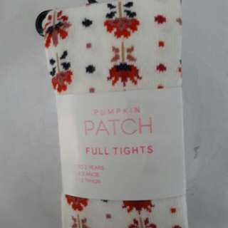 Pumpkin Patch 1 To 2 Year Old Girl Floral Tights