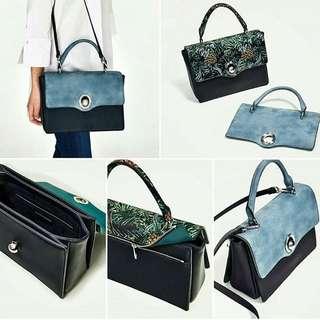 Zara  City Bag With Interchangeable Flap Bag