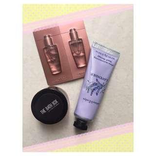Paket hand cream+lip tint free sample elixir kerastase