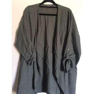 Green/khaki Oversized Jacket