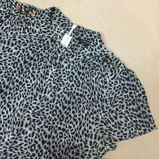 The Executive Leopard BW Blouse