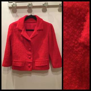 Size M - Vintage red boucle jacket