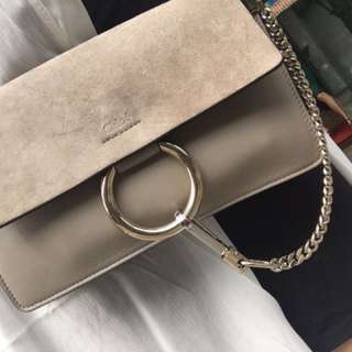 Authentic Chloe Faye small bag In Motty Grey