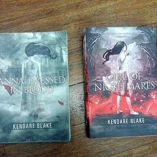 Anna Dressed In Blood & Girl Of Nightmares (Book 1 And 2) by Kendare Blake